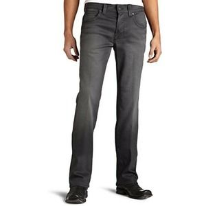 William Rast Ben Straight Jeans 38 Gray Button Fly